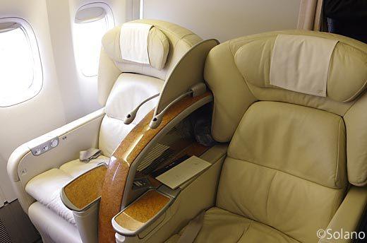 JAL国内線ファーストクラス座席(B777-200)