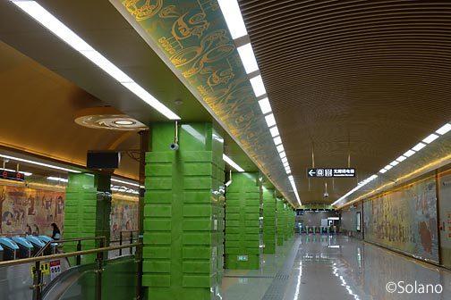 成都地下鉄、環状線の7号線、金沙博物館駅
