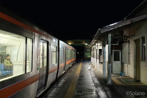 JR東海・紀勢本線・三瀬谷駅に停車した普通列車