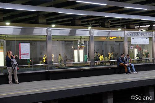 モスクワメトロ4号線クトゥーゾフスカヤ駅ホーム