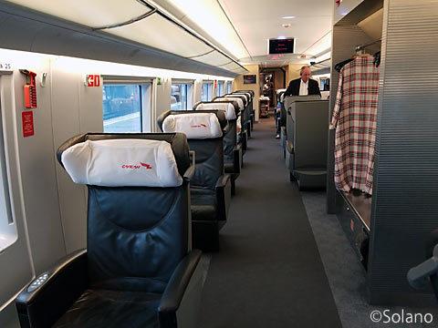 ロシア高速特急列車・サプサン、一等車客室