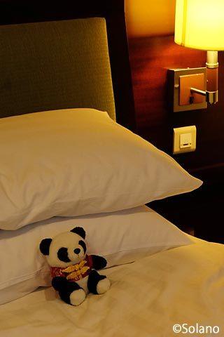 シャングリラ成都で貰ったホテル特製パンダのぬいぐるみ