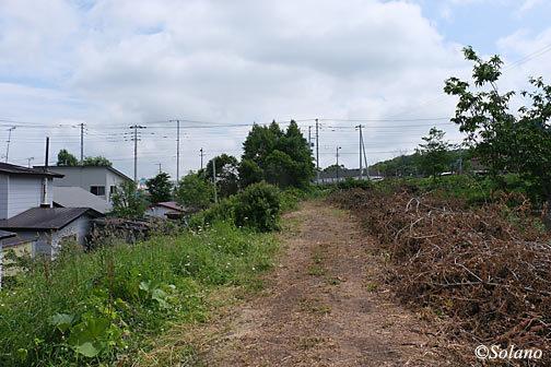 中標津市街地の標津線廃線跡