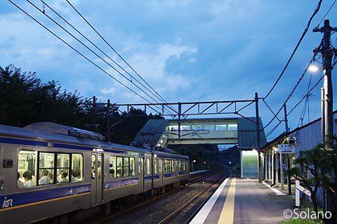 IGRいわて銀河鉄道・渋民駅と7000系電車