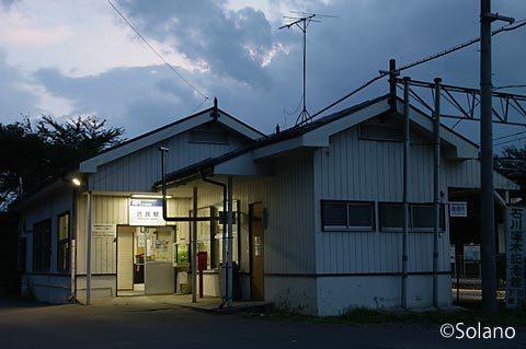 IGRいわて銀河鉄道・渋民駅の木造駅舎