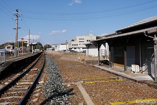 紀勢本線、鵜殿駅、貨物列車用の側線跡