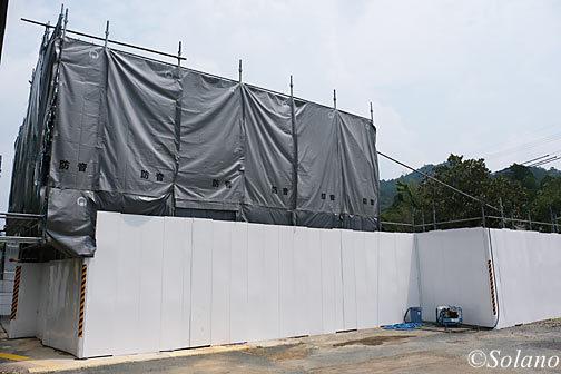 2019年7月末、遂に解体が始まった湯谷温泉駅の駅舎