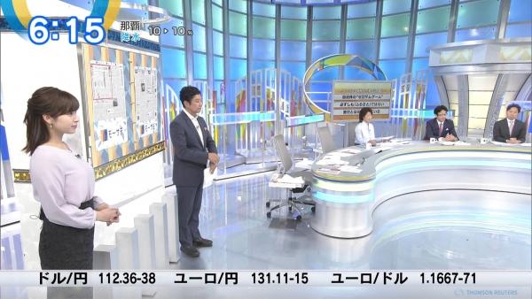 テレビ東京 角谷暁子、朝からパンチのある横乳!