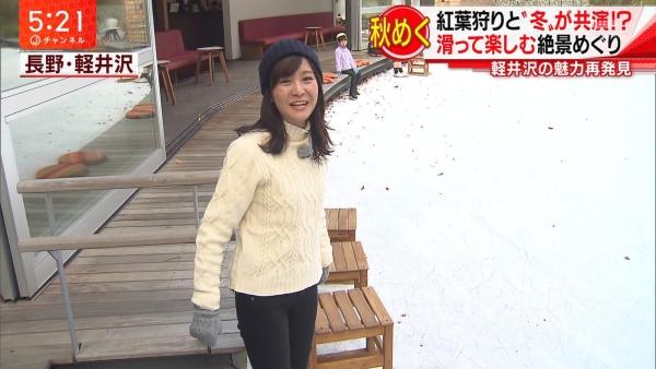 テレビ朝日 林美桜、ピタパン尻を見せつけながらスケートをする!