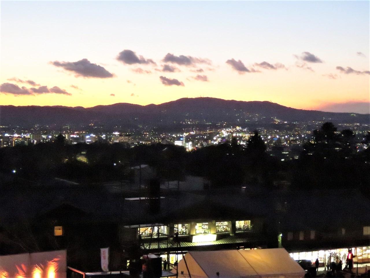日没 若草山から