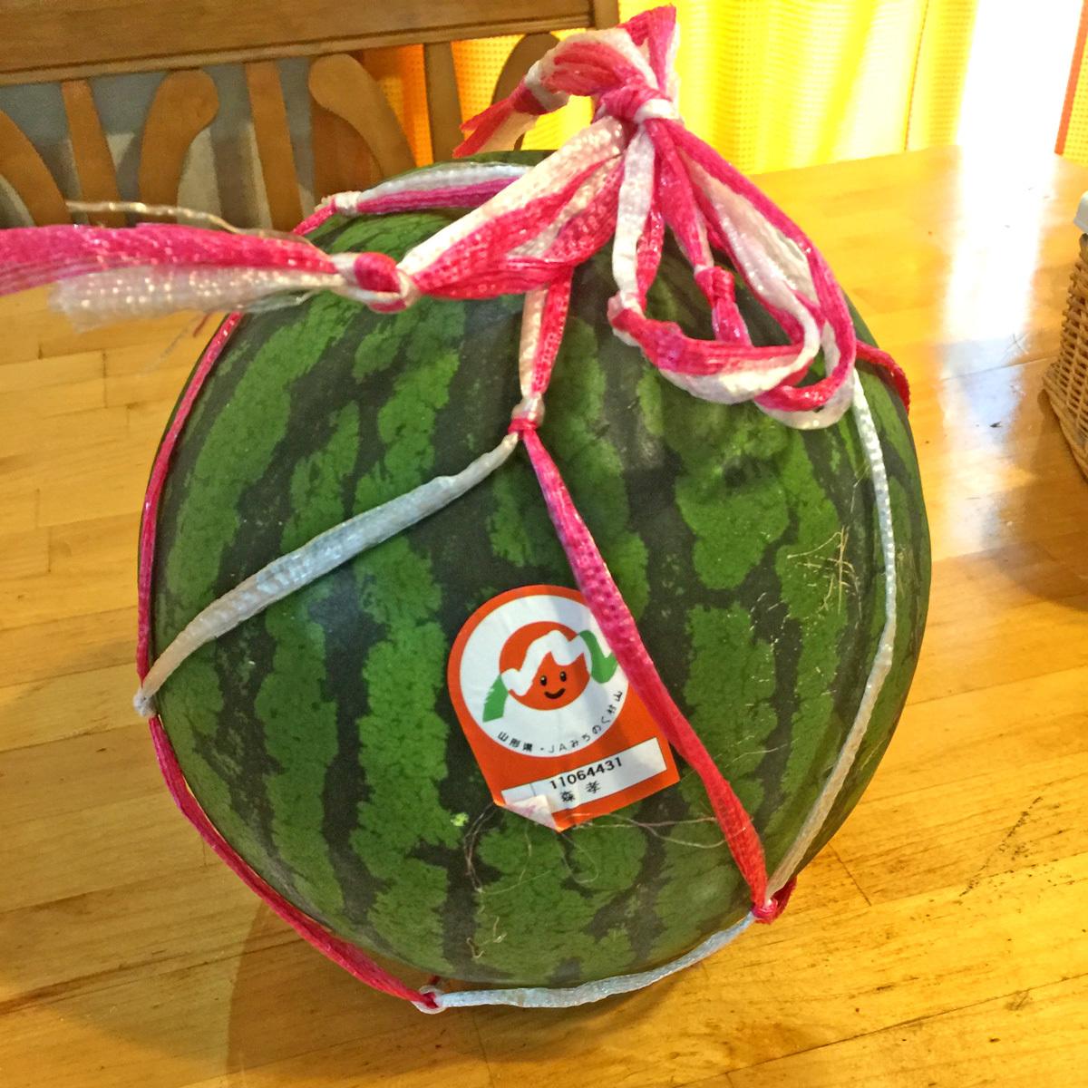 丸ごと一個西瓜