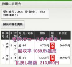 大井8R213890円