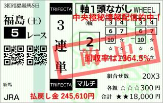 福島5R245610円