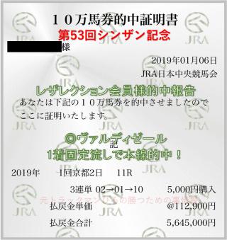 シンザン記念564万