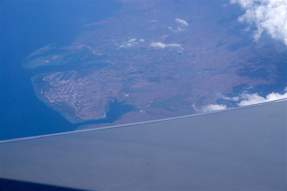 バリ島 Tanjung Sari Hotel 滞在記 その1 バリ上空1