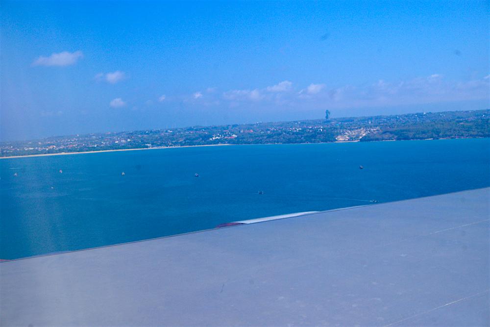 バリ島 Tanjung Sari Hotel 滞在記 その1 バリ上空2