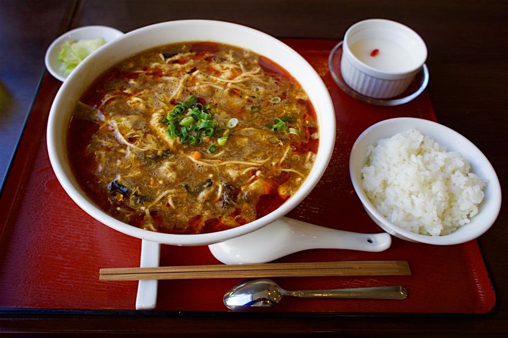 中華晩餐庁 満大人@宇都宮市池上町 スーラー湯麺セット