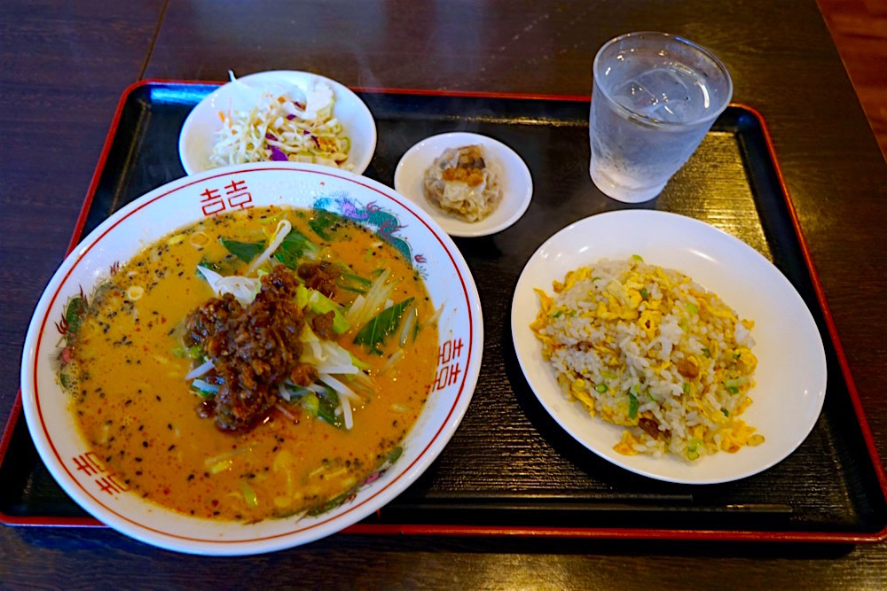 中華料理 新農村@宇都宮市下岡本町 担々麺+チャーシューチャーハンセット