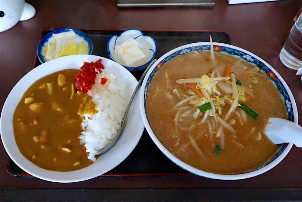 六番@宇都宮市下平出町 2 味噌ラーメンカレーセット