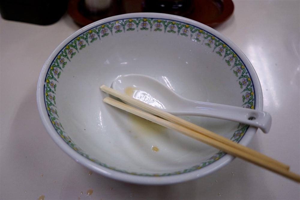手打ち中華 すずき@福島県白河市 完食