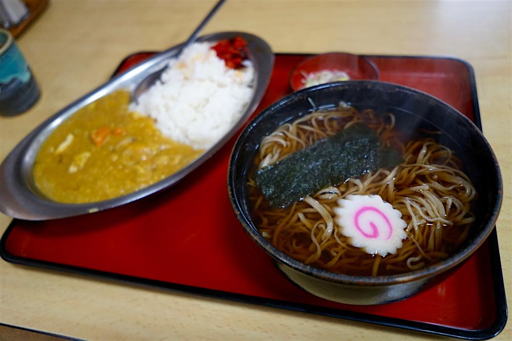 加志和食堂@壬生町安塚 2 かけそば+カレーライス