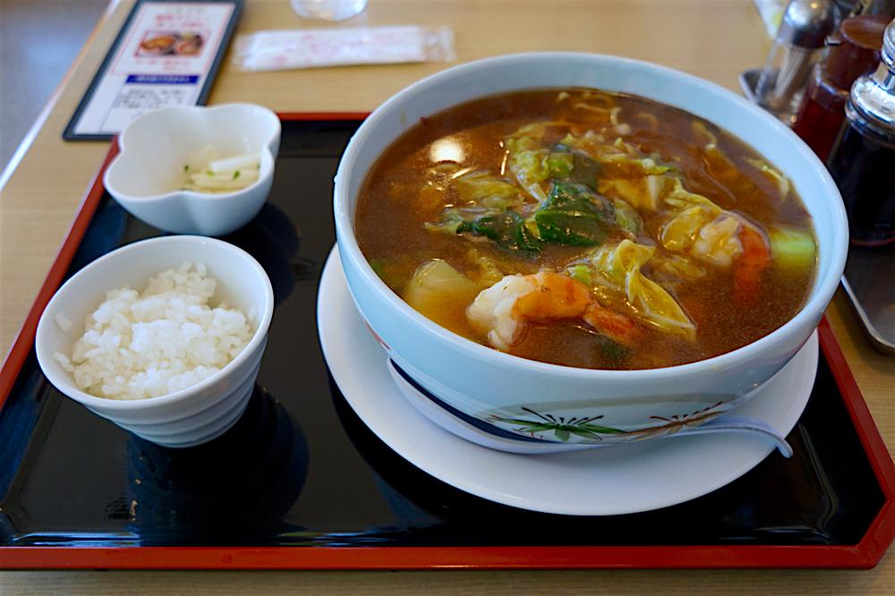 中華のわこう@真岡市荒町 海鮮あんかけ麺1