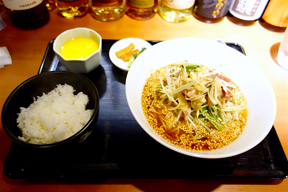 中華 RiN@下野市川中子 ネギとチャーシューの汁そばランチ