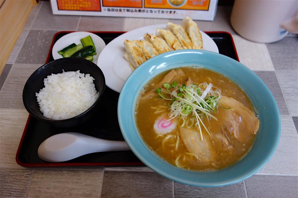 いさみや@宇都宮市中岡本町 煮干ラーメン 餃子セット