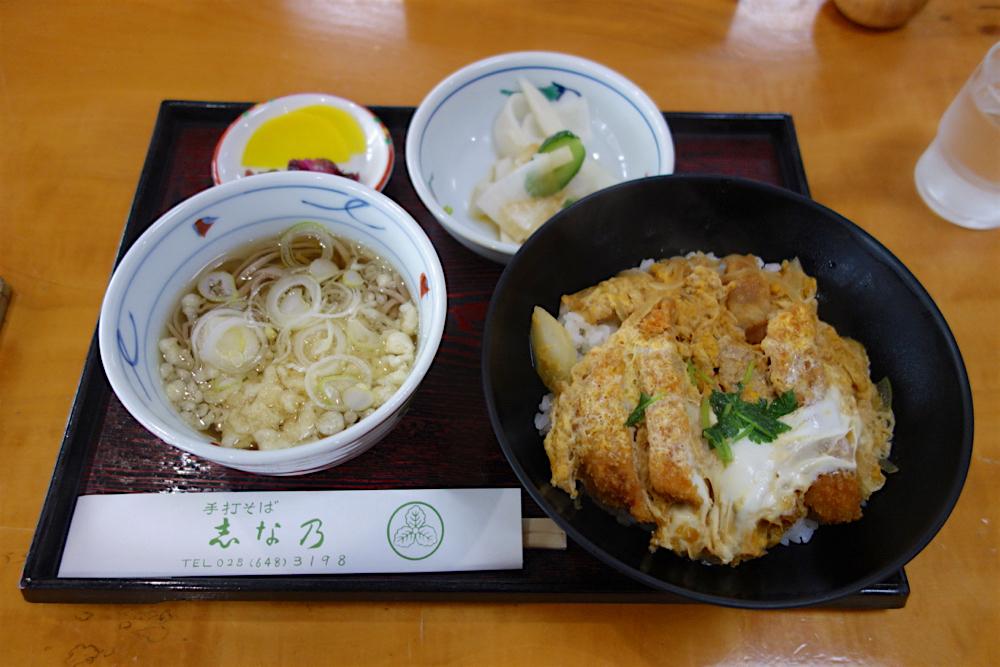 そば処 志な乃@宇都宮市鶴田 カツ丼定食