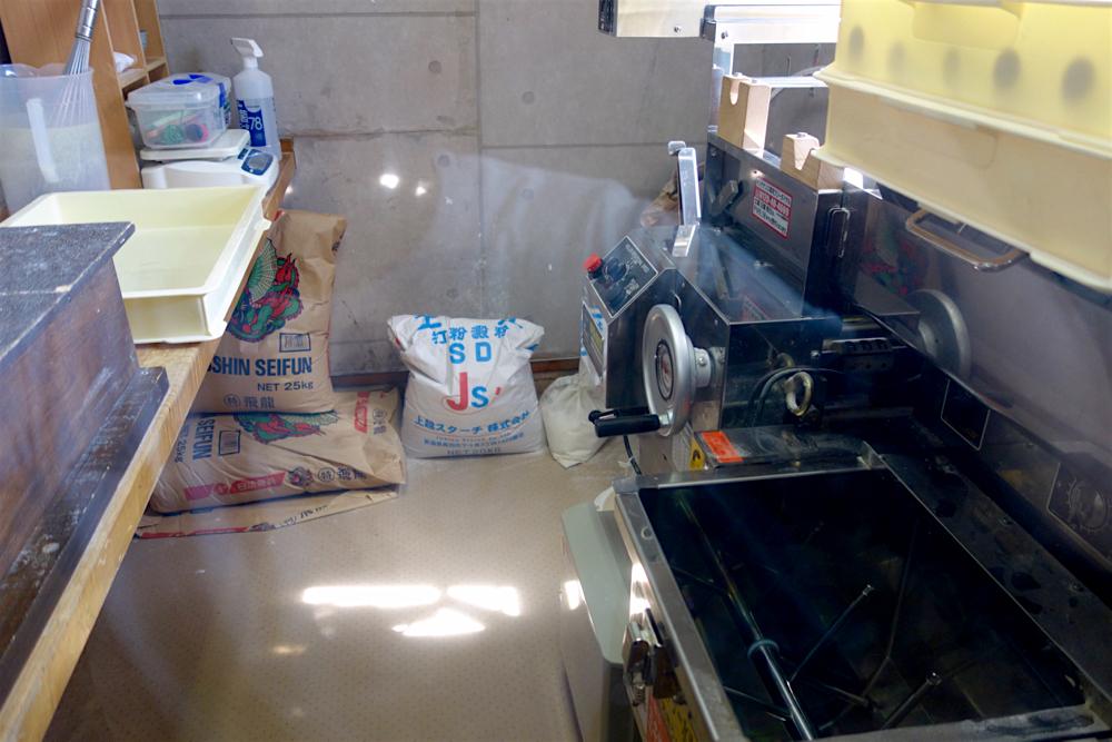 鈴木屋@矢板市中 製麺室