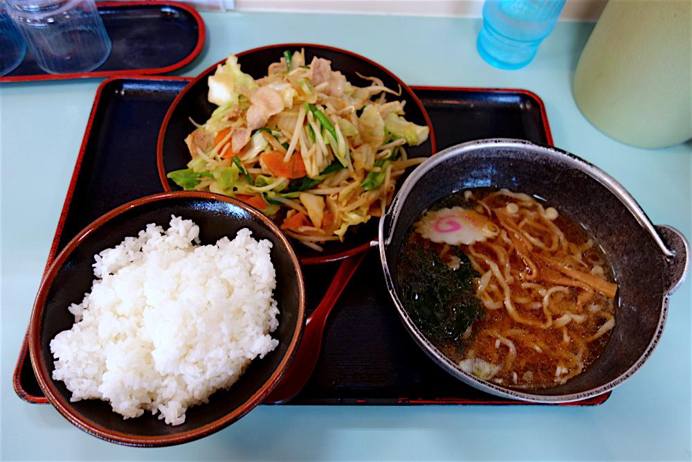 登龍 矢板店@矢板市東町 肉野菜炒め定食