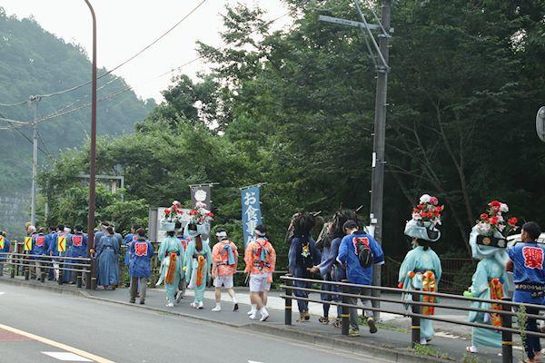棚沢熊野神社の獅子舞 005