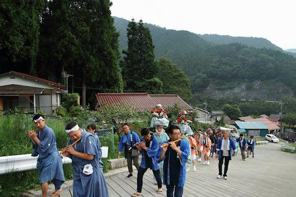 棚沢熊野神社の獅子舞 007