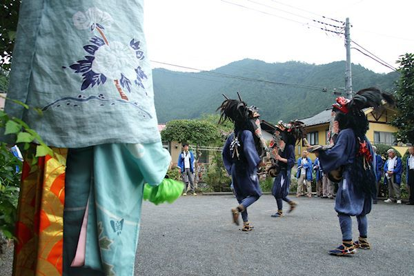 棚沢熊野神社の獅子舞 012