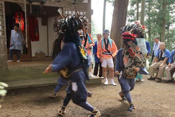 棚沢熊野神社の獅子舞 008