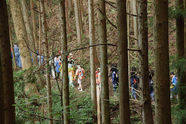 棚沢熊野神社の獅子舞 010