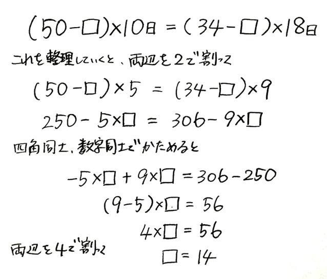 ニュートン算3日目_2