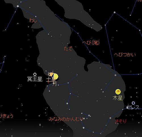 20190908 月と土星の大接近星図2