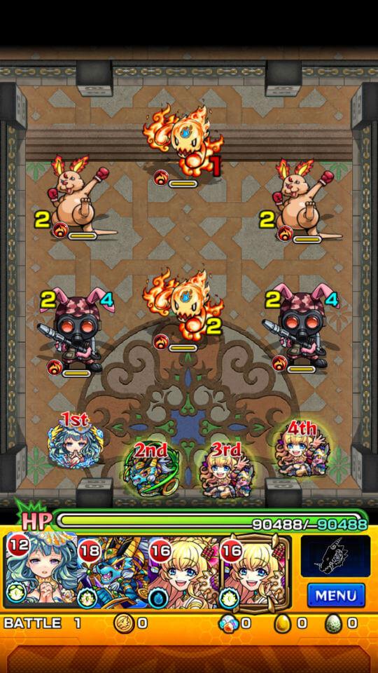 覇者の塔21階battle1