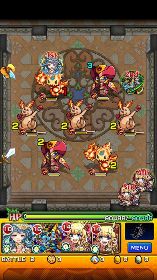 覇者の塔21階battle2