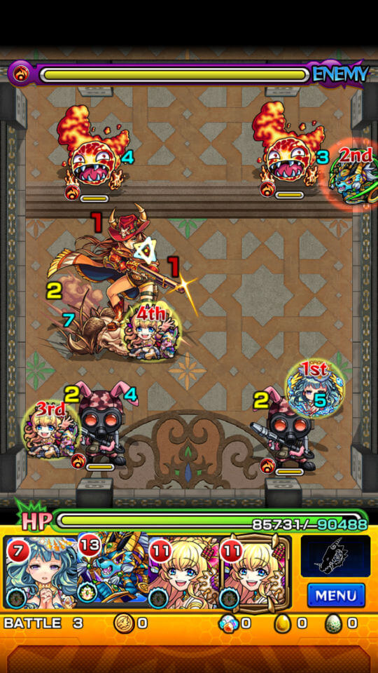 覇者の塔21階battle3