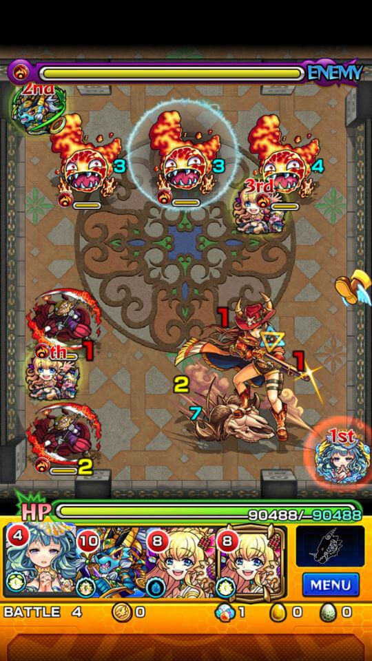 覇者の塔21階battle4