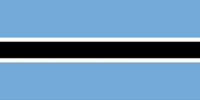 国旗:ボツワナ