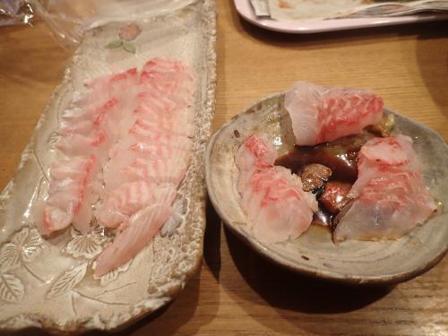 水島イサキの刺身