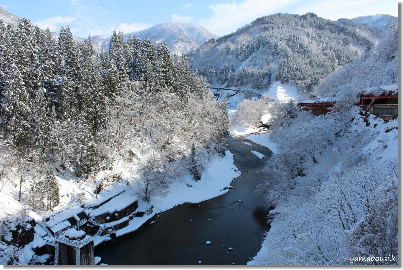 白山ろくの雪景色1