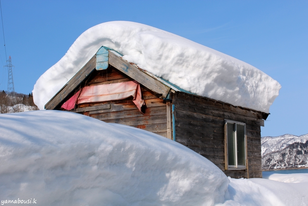 白山ろくの雪景色2