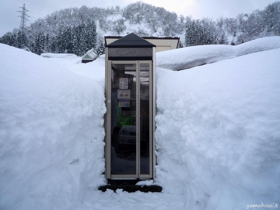 白山ろくの雪景色3