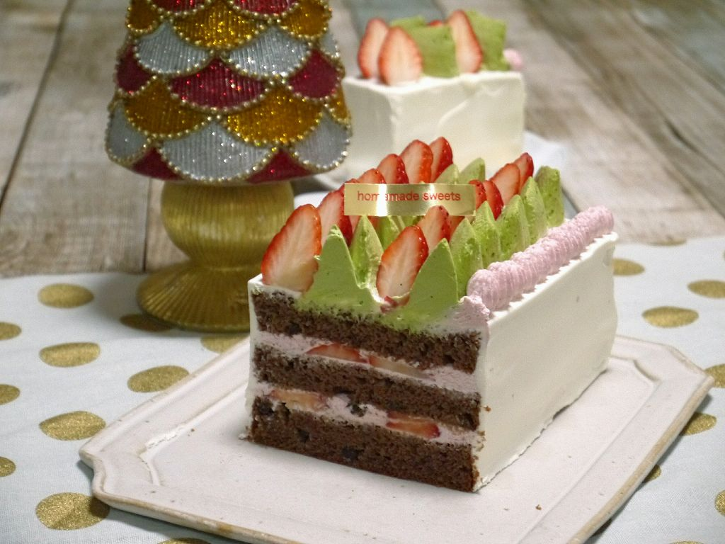 「ラム×チョコチップ!Xmasケーキ」の作り方☆ラズベリークリームでさっぱり
