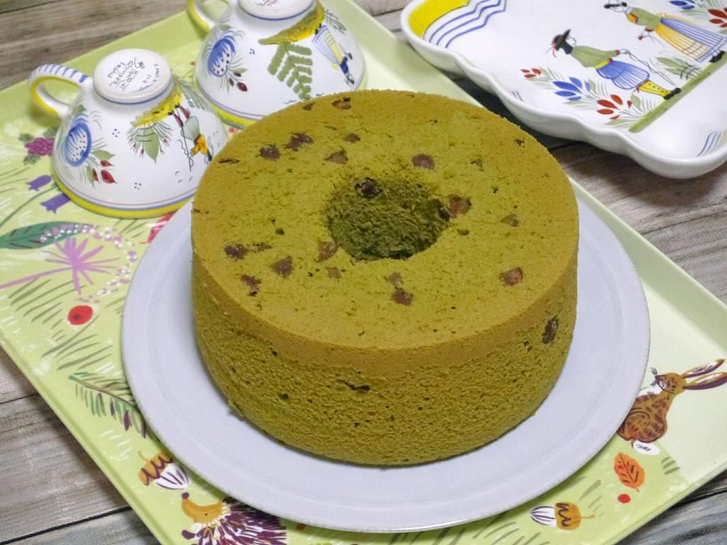 「栗抹茶シフォンケーキ」の作り方☆抹茶が香るふわふわシフォンに栗の渋皮煮が美味しい!
