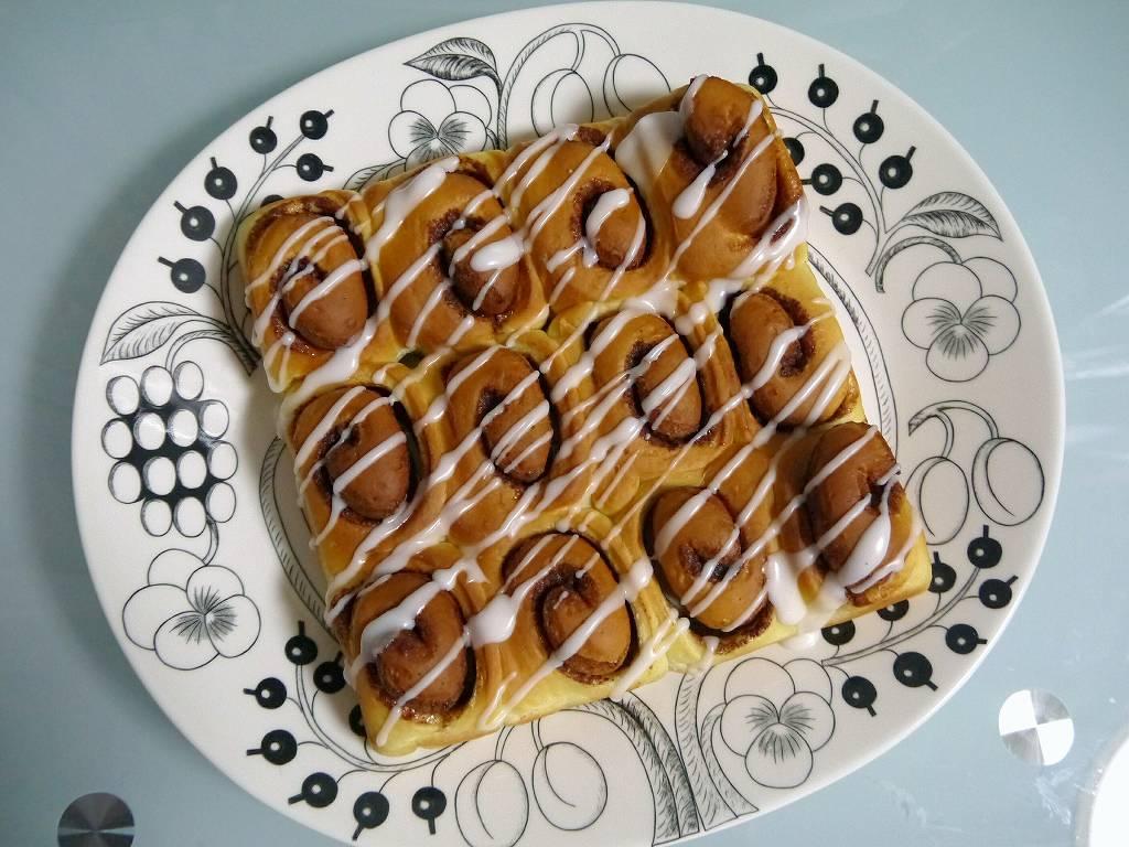 「シナモンロール」の作り方☆シナモン多め&レモンアイシングの、さくっと軽いおやつパン!